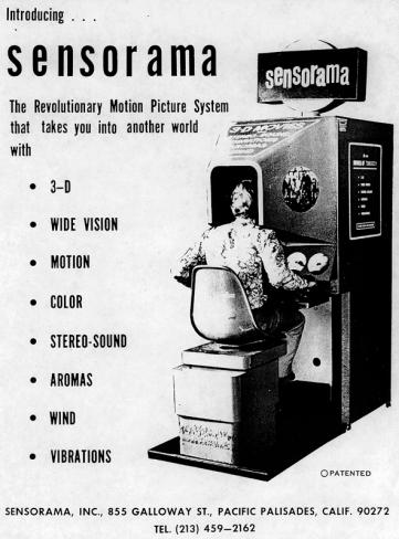 Eine Anzeige für die damals revolutionäre Entwicklung ...(Quelle: www.telepresenceoptions.com)